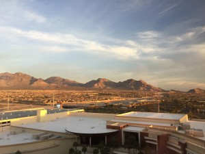 The view from my hotel room at Red Rock Casino and Resort, in Las Vegas